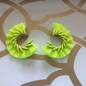 Jewelry - Jewelled neon fringe earrings